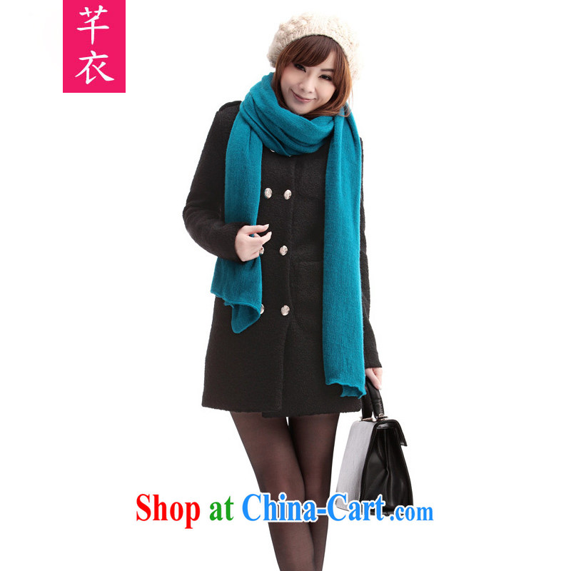Constitution, thick mm XL girls 2015 new fertilizer, winter clothing Korean autumn and winter, the gross is long-sleeved jacket thick warm warranty black to reference brassieres option, or the Advisory Service