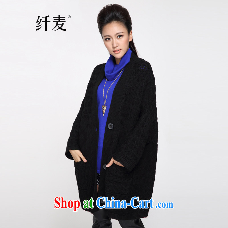 The Mecca indeed XL Women fall 2014 with new thick mm Leisure Long sweater jacket YF - 14,108 black are code