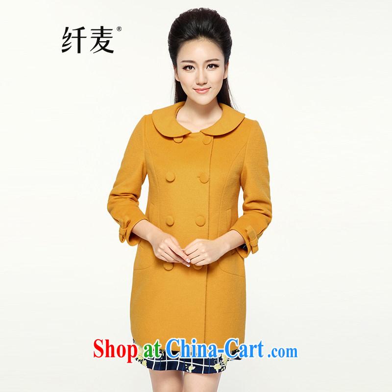 Slim, Mr Big, women winter 2014 with new thick mm stylish Korean version, long hair that jacket 944047268 yellow 6 XL