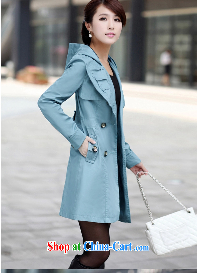 Lehman Ronnie lymalon 2015 autumn and winter new Korean thick MM the Code women decorated in a long double-wind jacket 5057 khaki-colored 6 XL pictures, price, brand platters! Elections are good character, the national distribution, so why buy now enjoy more preferential! Health