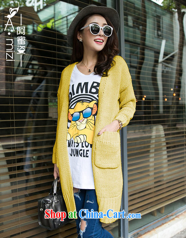 The honey beauty thick MM new autumn and the Korean version knitting video thin beauty larger thick long sweater jacket cardigan women 9319 Kang Wong code are code recommendations 105 160