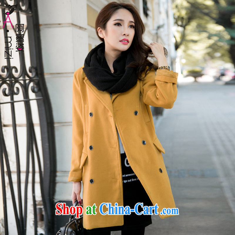 The honey and diverse expertise MM new winter clothing double-long in temperament, graphics thin windbreaker gross? What about coat-jacket women 9316 Kang yellow 5 XL, honey, and, shopping on the Internet