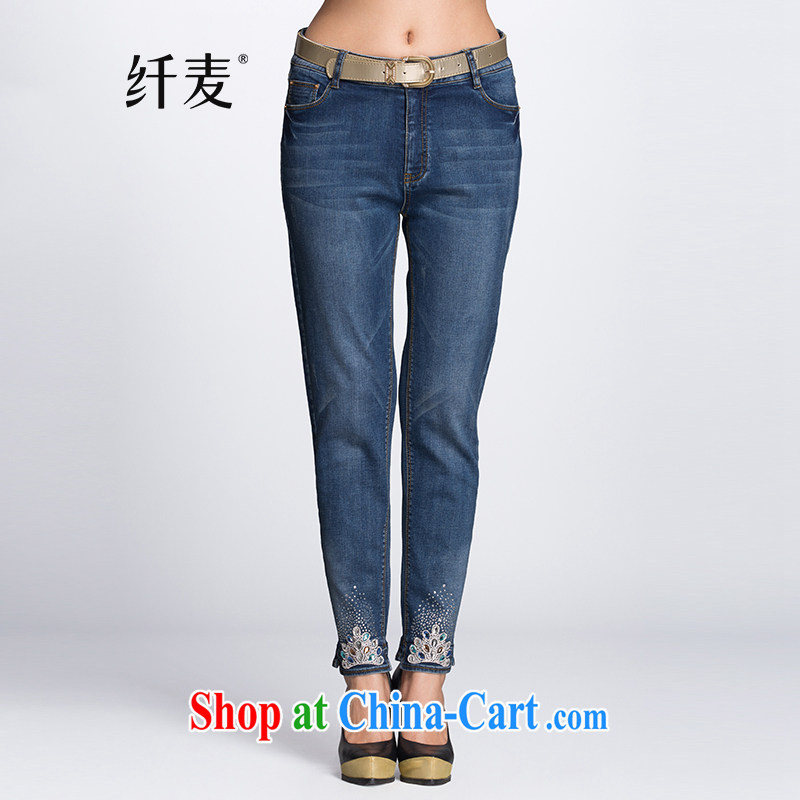 Slim, Mr Big, women winter 2014 loading new thick mm Hot drill jeans 944321481 blue XL