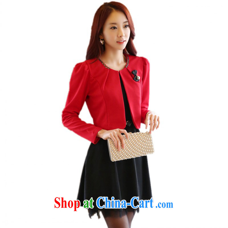 Package e-mail delivery Korean dresses new style high quality two piece set with career skirt vest solid skirt the ventricular hypertrophy Code Red Grand Prix Red Kit 3 XL approximately 160 - 175 jack