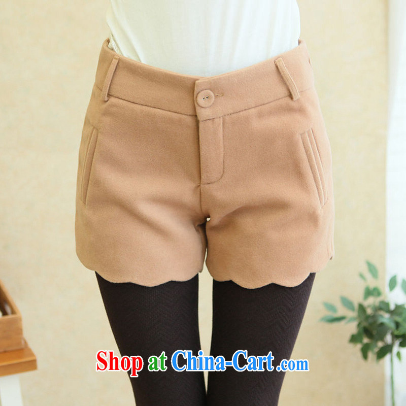 new, larger spring loaded thick Korean version 2015 solid boots pants girls thick mm video thin and thick hair and it shorts and color 4 XL