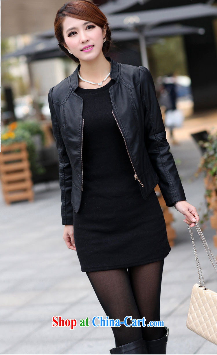 ZORMO Korean female autumn and winter, thick mmPU leather motorcycle jacket and indeed XL leather jacket black 4XL pictures, price, brand platters! Elections are good character, the national distribution, so why buy now enjoy more preferential! Health