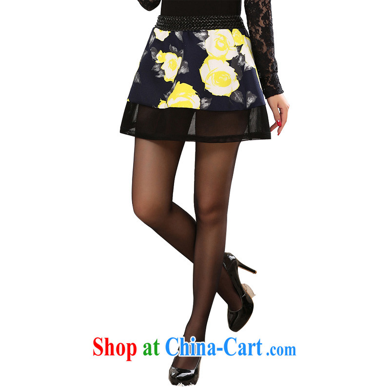 Constitution, colorful dress stylish body skirts and indeed XL Elastic waist high-definition-flowers fine biological air quality 100 ground short skirts Paridelles shaggy skirts season 4 skirt suit 4 XL