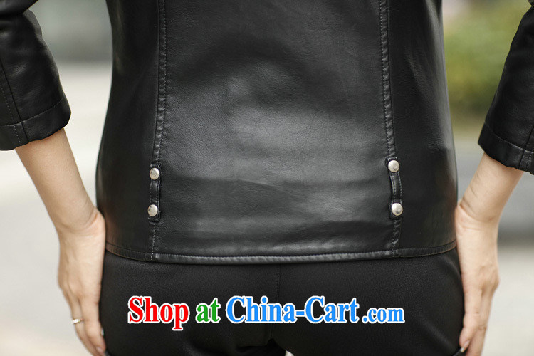 2014 autumn and winter, XL girls thick mm stylish sexy PU leather jacket long-sleeved Western leather jacket short, cultivating small jacket and cotton XXXXXL pictures, price, brand platters! Elections are good character, the national distribution, so why buy now enjoy more preferential! Health