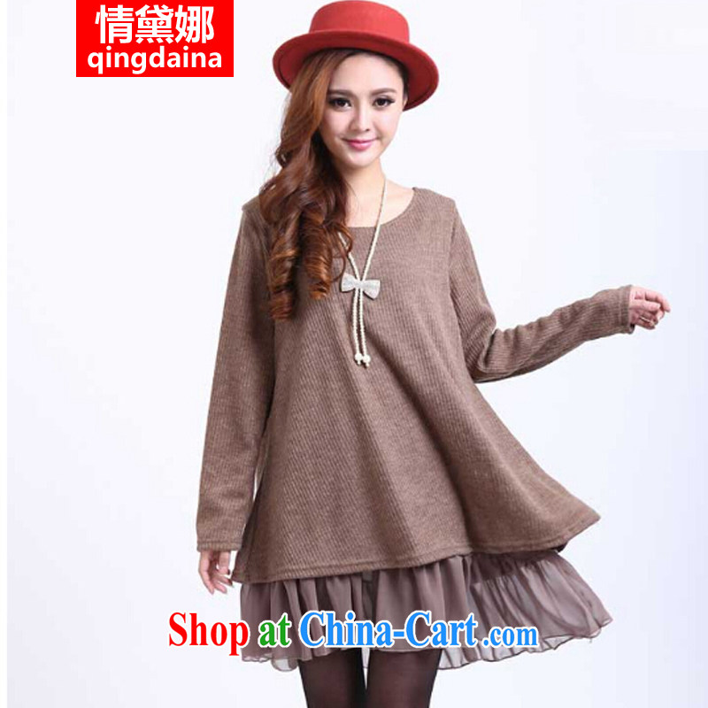Love, Diana 2014 new Korean trendy Code women mm thick and spring loaded thick sister graphics thin dress card its color XXXXL