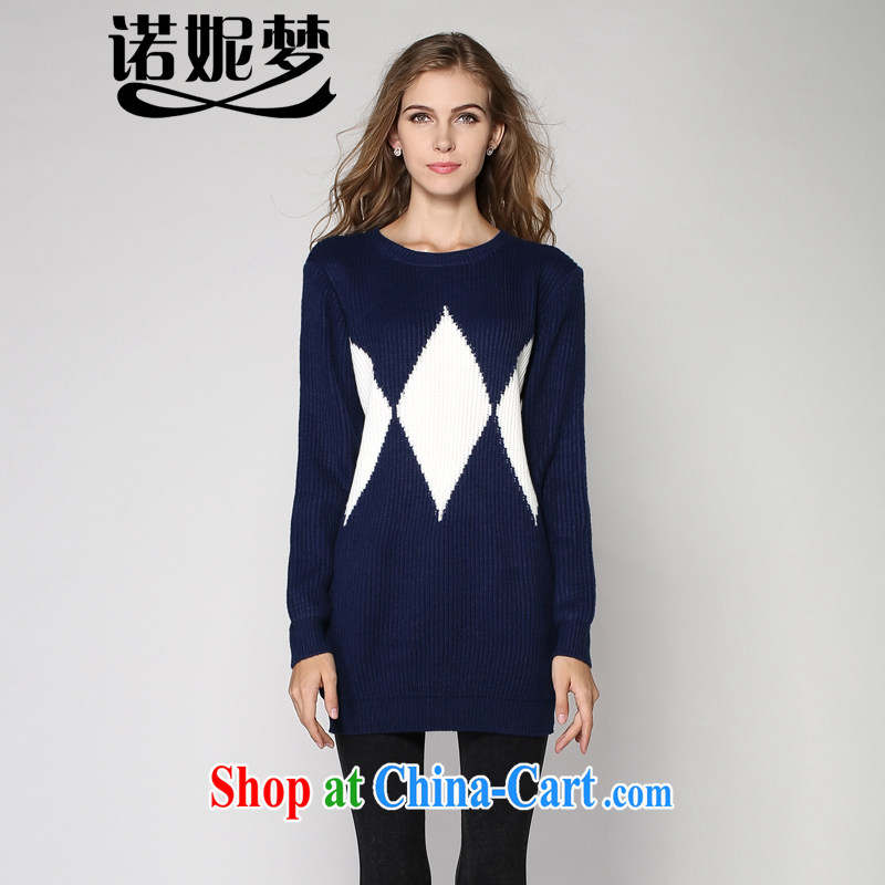 The Connie dream winter 2014 new Europe and indeed the XL women 200 Jack beauty knitted dress mm thick sweater video thin package and further than female dark blue XXXXL