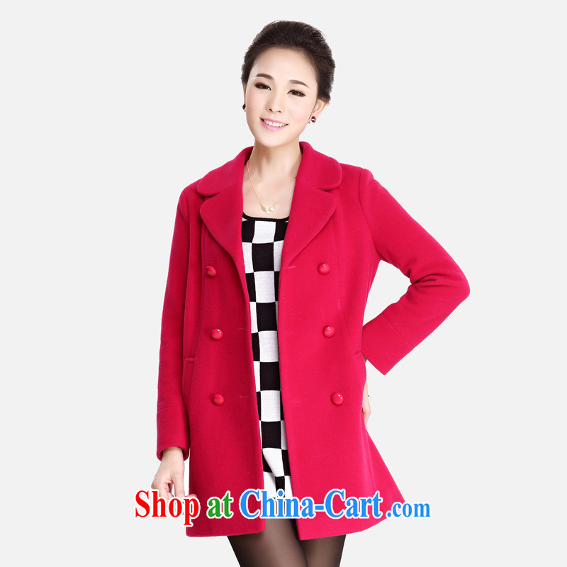 Cloud-XL women 2014 Korean double-IT sub-coat thick MM loose video thin? sub-coat of red 5 XL