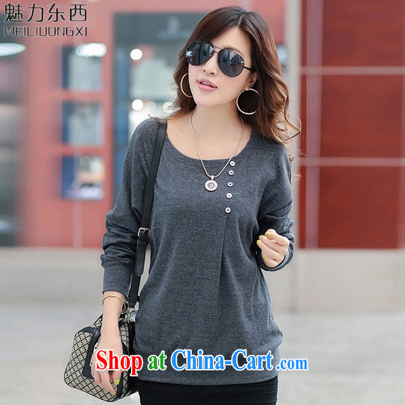 What charm summer 2015 Major Code women T long-sleeved shirts and T-shirts for women T 922,921 921 round-collar gray XXXXL