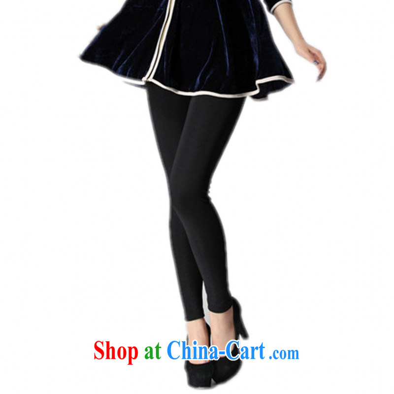 Package Mail Delivery female winter thick solid trouser press and ventricular hypertrophy, false and meat color stockings trousers even document warm pants thick mm 100 to ground the lint-free cloth black 3 XL approximately 160 - 190 jack