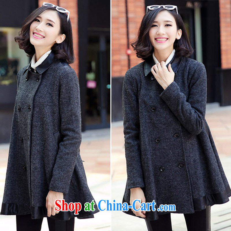 The United States and Europe, Mao jacket? mm thick winter long in 2014, Europe and North America beauty graphics thin thick sister? A coat thick mm video thin Korean gross coat? The color XXXXL
