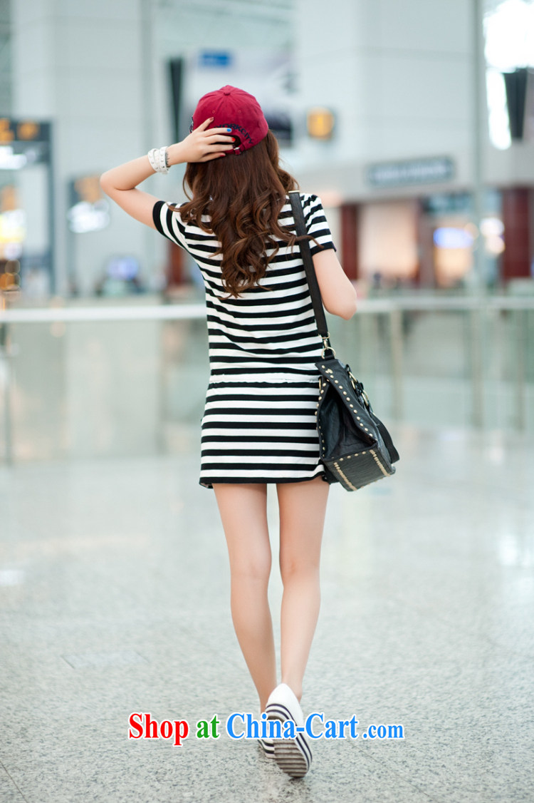 What charm summer 2015, the Code women dresses new dresses women T 837 blue and white striped short-sleeved XXXXL pictures, price, brand platters! Elections are good character, the national distribution, so why buy now enjoy more preferential! Health