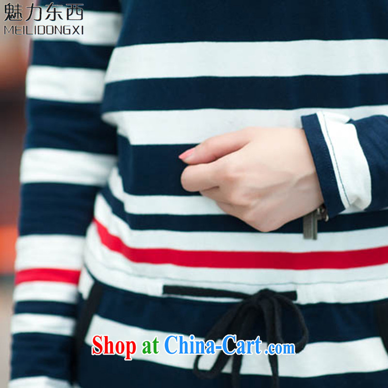 What charm summer 2015, the Code women's clothing dresses new dresses women T 837 blue-and-white striped short-sleeved XXXXL, Charm (MEILIDONGXI), online shopping
