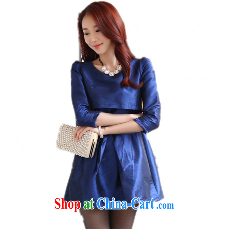 The delivery package as soon as possible e-mail Korean spring new shaggy skirts A version 7 Small cuff dress XL video thin OL blue dress video thin thick blue 3 XL 170 - 185 about Jack