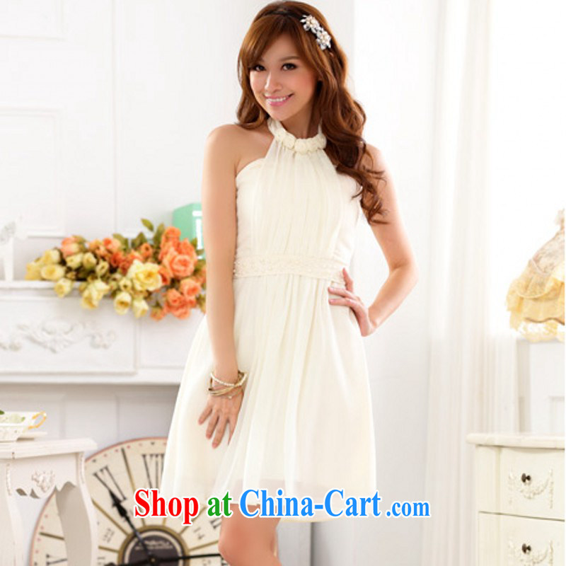 The package mail Korean version of sexy back exposed wedding dresses bridesmaid sister dresses XL show annual snow dress woven wrapped chest thick American champagne color XXXL approximately 165 - 185 jack