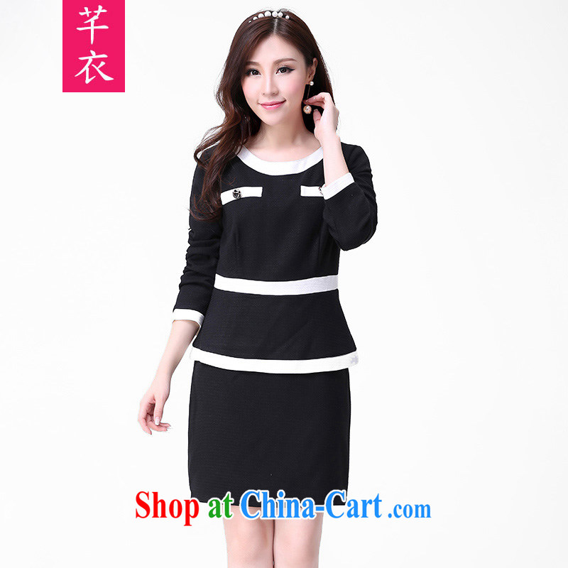 Constitution, and indeed increase, women with thick mm 2015 autumn and winter, the Korean version cultivating long-sleeved thick warm hair? dresses large black to reference brassieres option code or advisory service