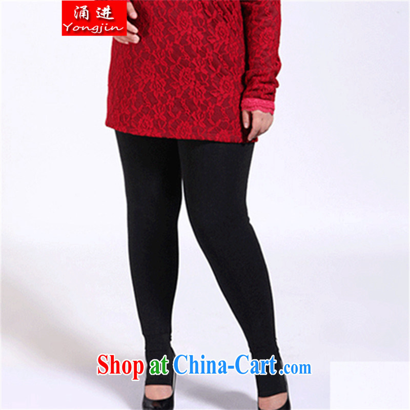 The 2014 winter New, and indeed increase, female thicken the lint-free cloth warm gold lint-free solid pants warm pants for 200 Jack MM 606 black are code