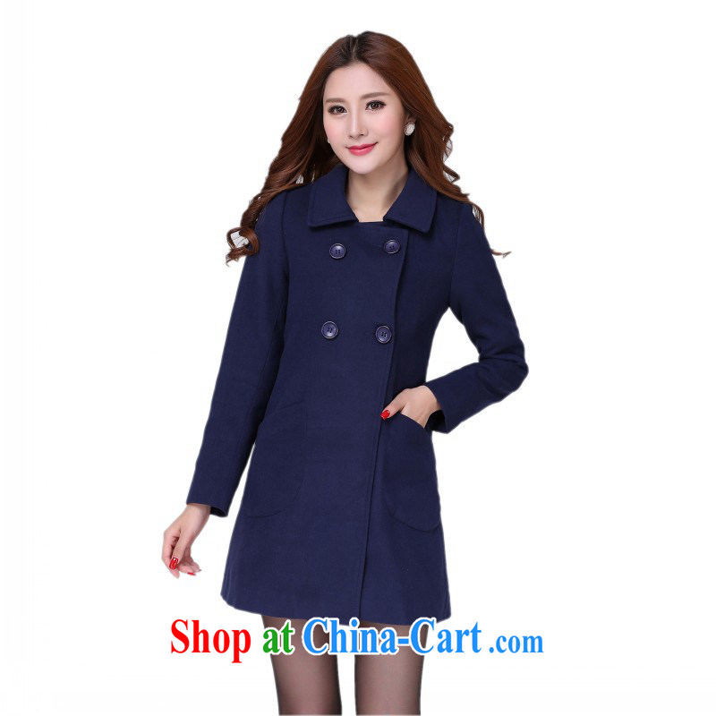 Constitution, colorful package mail delivery and ventricular hypertrophy, winter with the hair coat is double-Aura OL dark blue standard is outside the dark blue 5 XL 175 - 190 Jack left and right