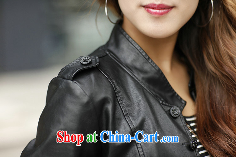 2015 and stylish autumn and winter clothing Korean XL mm thick girls long-sleeved beauty graphics thin leather jacket PU leather jacket black (not cotton) XXXL pictures, price, brand platters! Elections are good character, the national distribution, so why buy now enjoy more preferential! Health