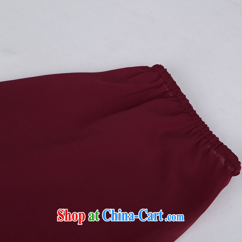 Mephidross has long honey, and indeed increase, women mm thick 2015 spring new Korean stitching loose video thin ice woven long-sleeved dresses 2822 big red code 4 XL Mephitic economy Honey (MENTIMISI), online shopping