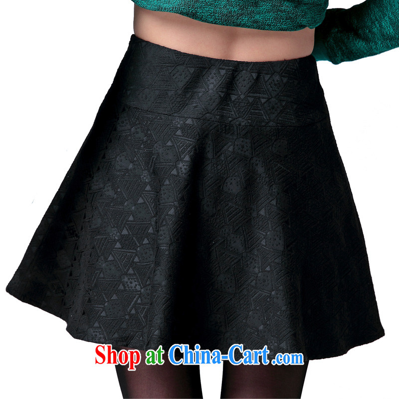 Cross-sectoral expertise provided MM spring new larger female Korean version 100 to ground the fat increase, flouncing skirt body number 2576 black 5 XL
