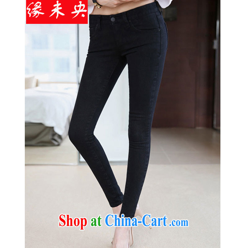 Edge is not the central 2015 new female Korean thick MM stretch casual jeans pants FB C 2048 2175 wash water and the Code 40