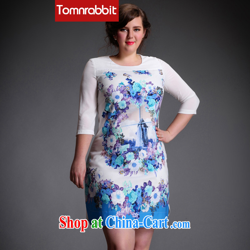 The Tomnrabbit code female dresses new products in Europe and high-end and indeed has been increased, and mm thick spring 2015, long skirt picture color the code XXXXL