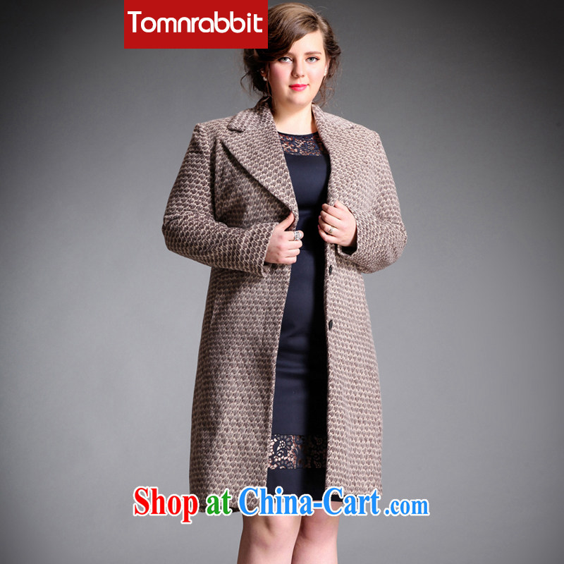 Tomnrabbit spring 2015 the code female new European and American high-end big bird 1000 the gross long-sleeved jacket? coat picture color the code XXXL