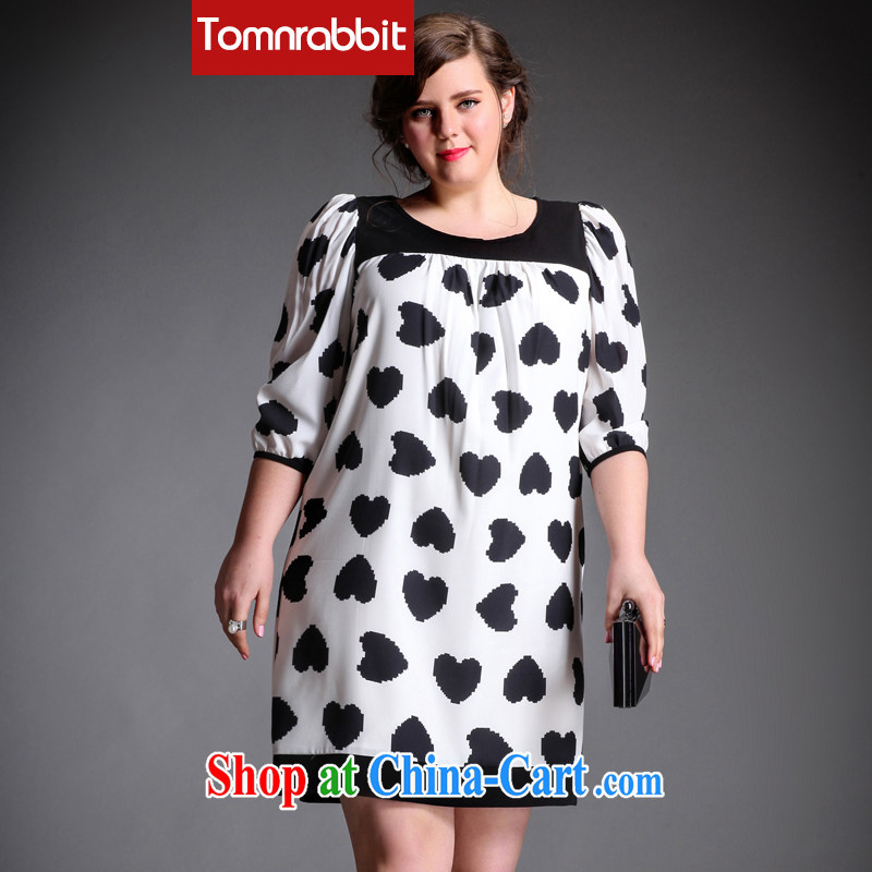 The Tomnrabbit Code women's clothing dresses new spring 2015, original design knocked color stitching bubble cuff heart-shaped stamp skirt picture color the code XXXL