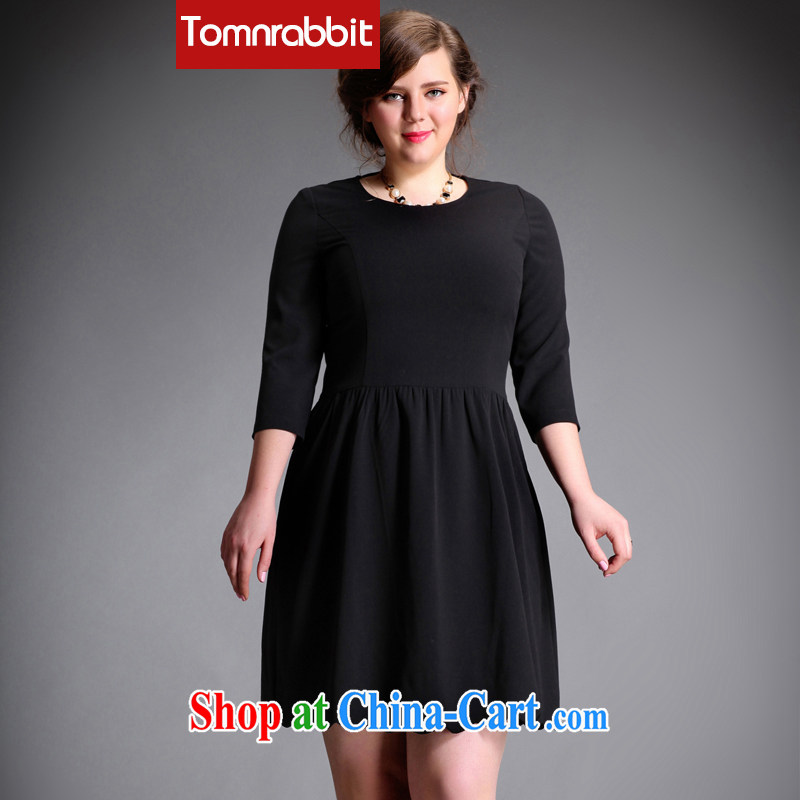 The Tomnrabbit Code women's clothing dresses new spring 2015, mm thick video gaunt the Rome the solid color-waist skirt black large code L
