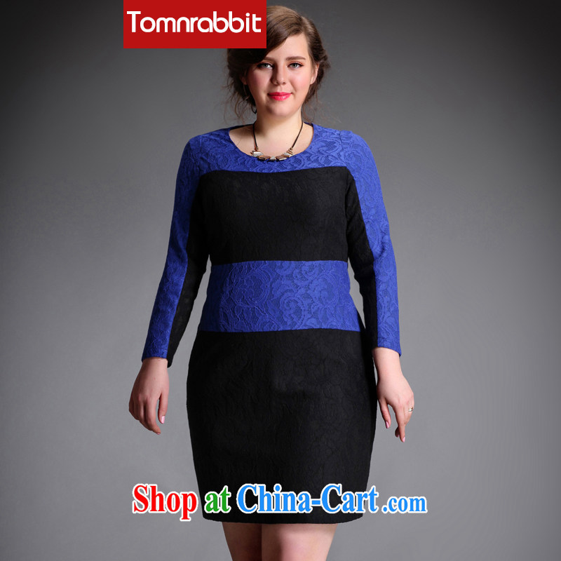 The Tomnrabbitd Code women dresses new spring 2015, lace Stitching with thick mm beauty graphics thin further skirt picture color the code XXXL