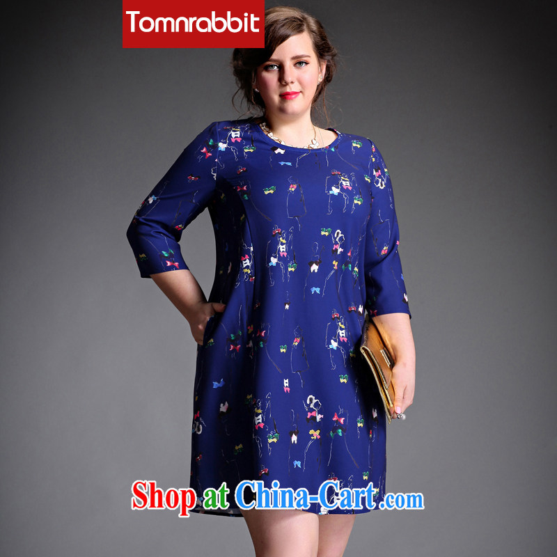 The Tomnrabbit Code women dresses new spring 2015, original design, long-neck 7 cuff thick sister loose skirt picture color the code XXL