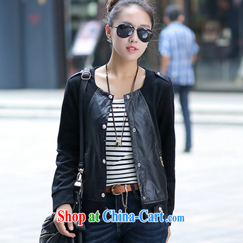 The Code female decoration, graphics thin 100 ground short jacket jacket thick mm on T-shirt 2014 new and indeed small jacket 200 Jack mm thick graphics thin coat black XXXXL