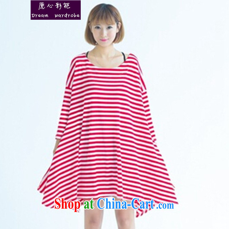 would like to heart Color cabinet 2015 spring loaded the Code, dress T-shirt fat people dress the large code female 200 jack mm thick streaks dress ll red bars are code