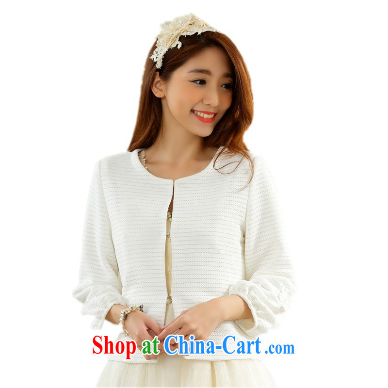 The package-mail the ventricular hypertrophy, spring loaded Small jacket dress shawl OL small fragrant wind lady long-sleeved short jacket, MM thick cardigan small jacket anti-white 3XL approximately 160 - 180 jack