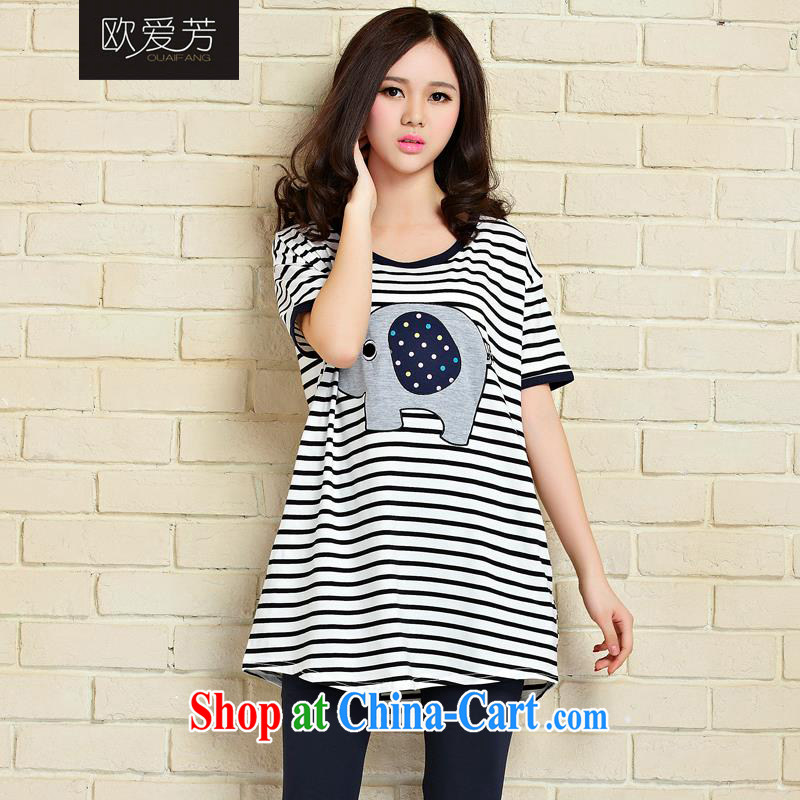 The Love, summer 2015 new Korean loose the code T pension multi-color stripe color, code