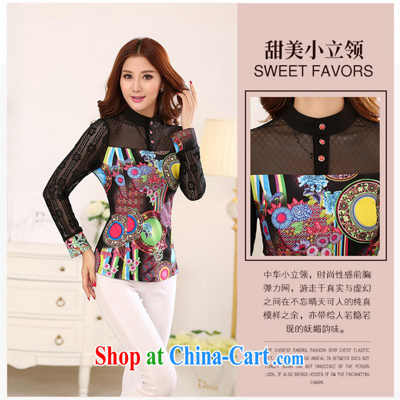 Constitution, colorful new 2015 spring the ventricular hypertrophy code shirt thin yarn snow woven shirts thick mm stylish stamp solid shirt shirt OL graphics thin black 4 XL approximately 175 - 190 jack