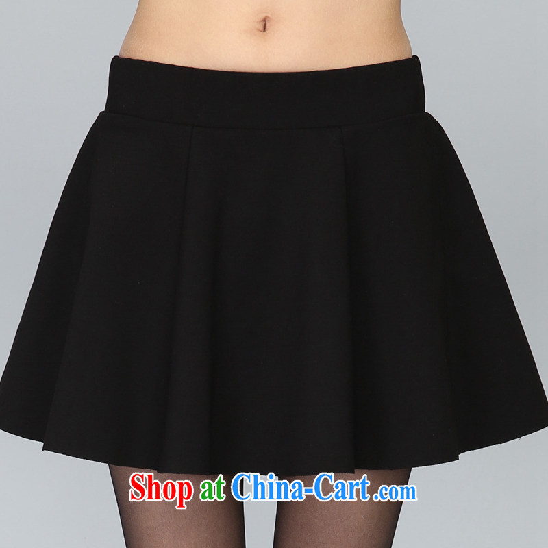 King size, knitted thick mm spring loaded new the fat and short skirts thick sister graphics thin body skirts trousers 200 Jack mm thick Korean video thin knitted body skirt black XXXXL