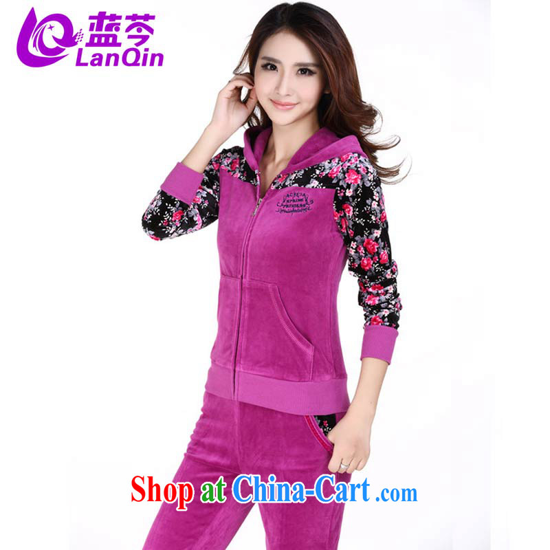 The Superintendent new jacket Kit leisure video thin velvet stamp beauty cap female mauve XL
