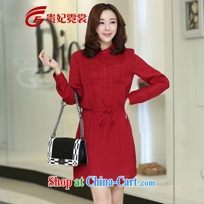 queen sleeper sofa Ngai advisory committee 2015 spring new king, ladies dresses and indeed XL loose video thin ice woven drawcord even long-sleeved clothing skirt A 225 red 3XL