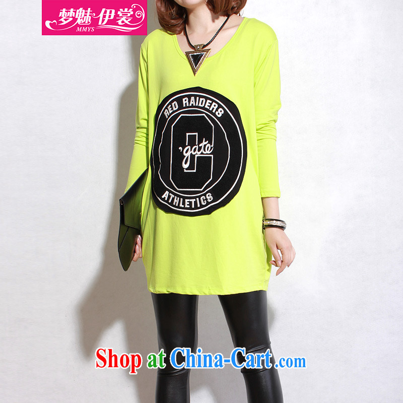 Director of the Advisory Committee 2015 Spring and Autumn and the new section is the XL women mm thick loose, long, solid shirts T shirt-skirt fluorescent colors are relaxed, chest of tile 118