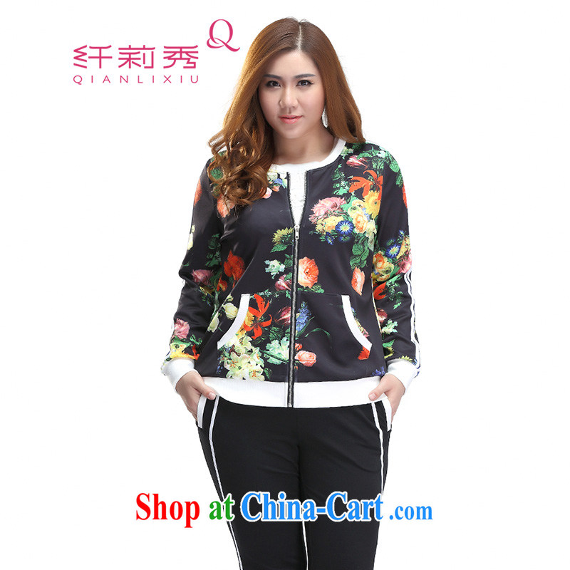 Slim LI Sau 2015 spring new large, female Korean Beauty Leisure package campaign kit cardigan sweater girls Q 7007 black L