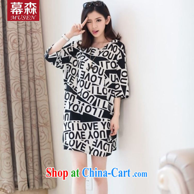 The sum 2015 summer women won on personality in English word 7 of stamp duty cuff with larger graphics thin thick MM 100 hem T pension 200 jack to pass through picture color code