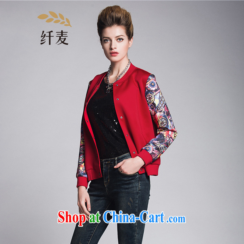 Slim, Mr Big, female 2015 spring new thick mm stylish Korean suit tiles jacket 951047461 red 4 XL