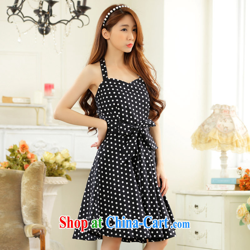The package mail 2015 summer new stylish wave point control temperament of a sense also dress XL OL ladies dress, vest dress girls black 3 XL approximately 160 - 180 jack