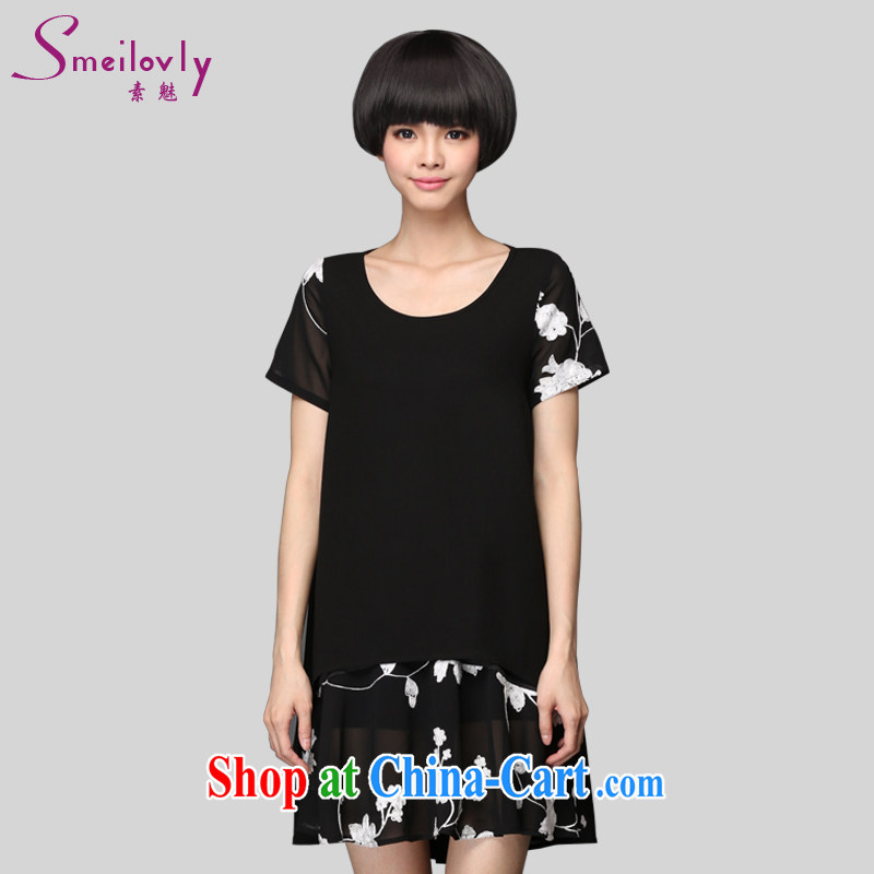 Director of summer 2015 with new, and indeed increase, female fat MM embroidered snow-woven dresses video thin, 2911 S black. The Code XXL 145 about Jack