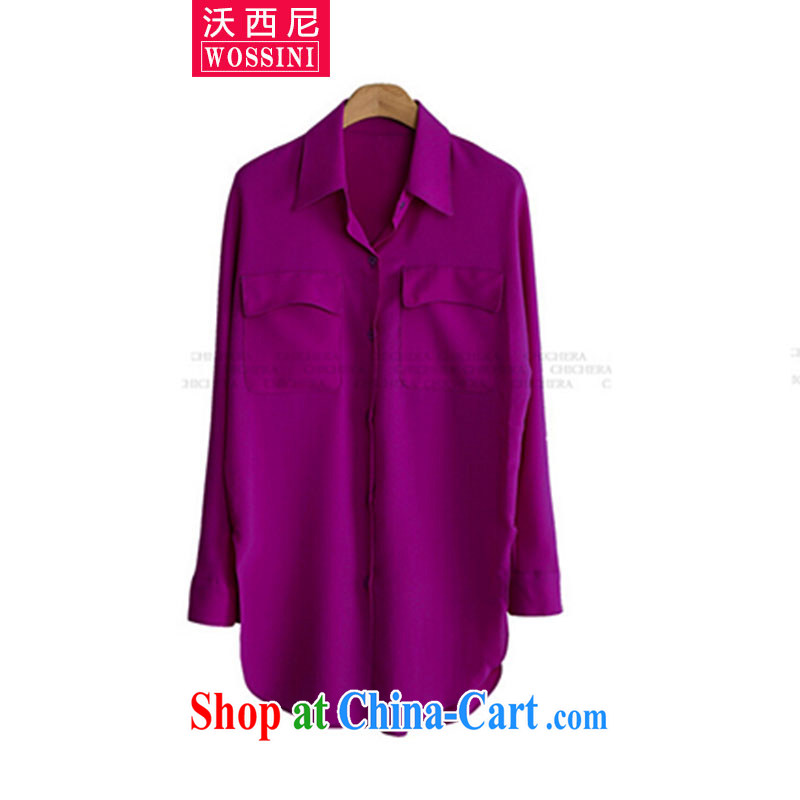 Kosovo, Western Europe and North America by 2015, the ladies' spring new thick mm spring new products, loose shirt YJ 1505 pink XXXXXL